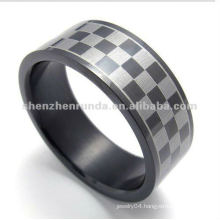 fashion Lattice style 316L S.Steel rings jewelry