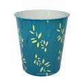 Round Blue Plastic Leaf Design Open Top Dustbin (B06-2020-3)