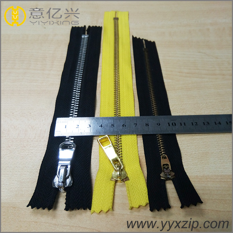 NO.5 metal brass teeth zipper
