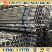 OD 26.9mm, grueso 1.8mm, tubo de acero galvanizado caliente