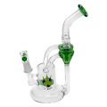 Glass Recycler Bubbler Smoking Pipes with Two Recycle Chambers (ES-GB-368)