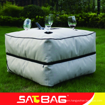 Cool moveable fabric small table bean bag outdoor