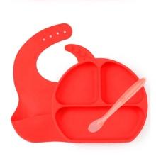 Набор для кормления силиконовой детской посуды из 3 предметов