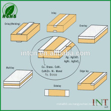 cinta de cobre cubierta de plata aleación bimetálica