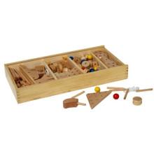 100pcs hölzernes Gebäude-Aufbau-Spielzeug