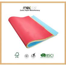 Papel de cor ondulado para caixa de exibição