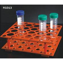 Estante de centrífuga desechable naranja para 50 ml, 15 ml