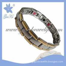 2013 Gus-Sb-022gm Fashion Ipg Gold Stainless Steel Bracelet with Magnetic and Negative Ion Healing for Man