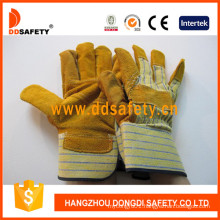 Yellow Cow Split Leather Patch Palm Work Glove Dlc202