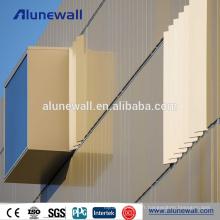Panneaux composites décoratifs en aluminium PVDF pour le revêtement des murs extérieurs