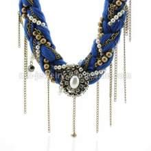 Античный дыхание веревки вязать медной цепочке кулон ожерелье
