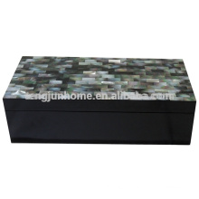CBM-BPSBL Seashell Furniture Black Mother of Pearl Accessory Box