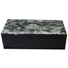 CBM-BPSBL Seashell Móveis Caixa de acessórios de madrepérola preta