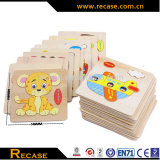 Kids Intelligent wooden animals jigsaw puzzles wooden cartoon animal puzzle