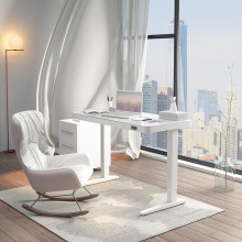 Adjustable Height Tempered Glass Table Desk For Home