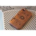 Couverture mobile de support en bois pour appareil photo brun