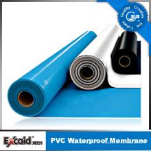 Membrane imperméable de PVC de chlorure de polyvinyle de vente chaude pour le toit / sous-sol / garage / tunnel (ISO)