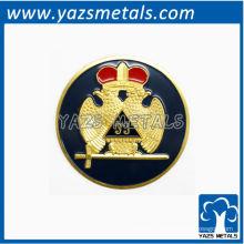 Insigne de maçon personnalisé, badge de rite accottish personnalisé de haute qualité