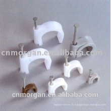 Nouveaux clips de câble de cercle automobile adhésif de conception