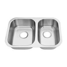 6745A-L Undermount Double Bowl Bar Sink