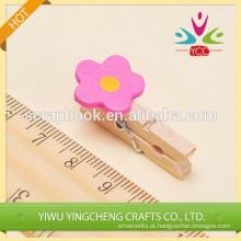 Clipe de papel colorida decoração home novo produto clip de madeira
