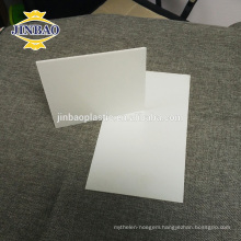JINBAO water-proof 1.5 1.6 density rigid opaque white pvc sheet