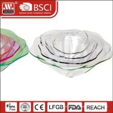 HAIXING bpa free plastic microwavable crystal fish bowls