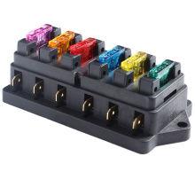 Bloco automotivo do fusível da maneira da caixa 6 do fusível da lâmina do circuito do veículo