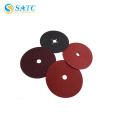 SATC-resin bonded A/O fiber disc /waterproof fiber disc with cross hole