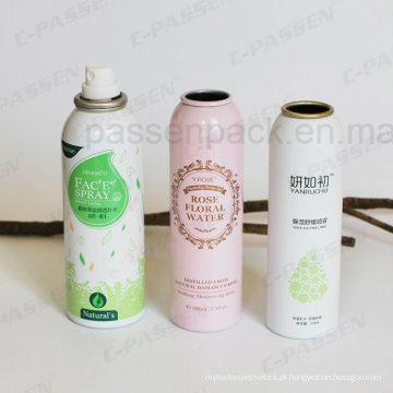Lata de pulverizador de alumínio do aerossol de Skincare com impressão deslocada (PPC-AAC-023)