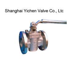 Válvula de encaixe de luva revestida PTFE com extremidade de flange de aço inoxidável (X43F)