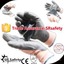 SRSAFETY 13G трикотажная резинка с перламутровыми перчатками с перламутровыми пальмовыми перчатками для зимы