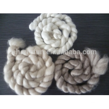 Tops de cashmere blanco / gris claro / marrón