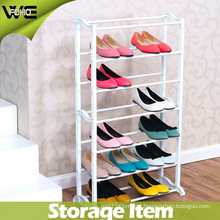 DIY White Assemble Plastic Waterproof Shoe Rack for Living Room
