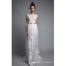 Ivory Applique A Line Bridal Wedding Dress Party Evening Gown
