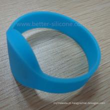 Pulseira de silicone de borracha RFID inteligente personalizada