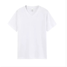 Mens Womens Unisex VEE Neck Cotton T-shirts