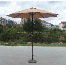 Parasol de jardin Design tout droit Unique de manivelle métal