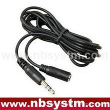 Varón estéreo de 3.5mm al cable de extensión femenino estéreo del receptor de cabeza del altavoz del mp3 de 3.5mm od3.2