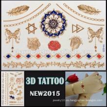 OEM color al por mayor 3D colorido efecto tatuaje impermeable etiqueta tatuaje hermoso diseño para el cuerpo YH 025