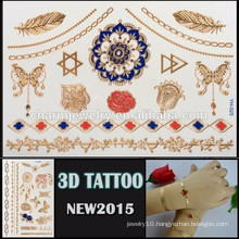OEM wholesale colorful 3D effect tattoo waterproof tattoo sticker beautiful design for body YH 025