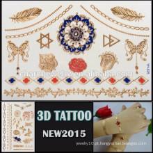 OEM atacado colorido efeito 3D tatuagem impermeável tatuagem adesivo bonito design para o corpo YH 025