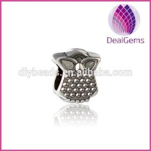 Wholesale 2015 fashion & colourful zinc alloy owl pendant/charms/beads jewelry