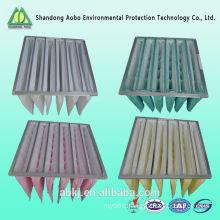 F5/F6/F7/F8 pocket air filter MERV9/MERV10-MERV 14 pocket air filter