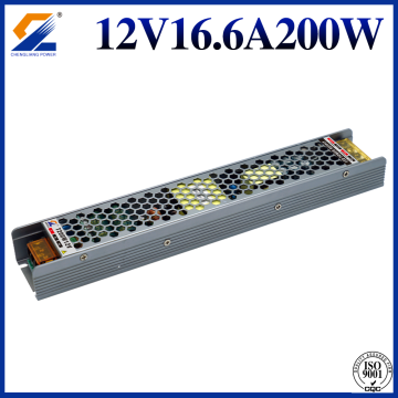 الصمام سائق Dimmable 12V 16.7A 200W Triac 0-10V PWM يعتم