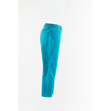 Ladies Aqua cotton trousers