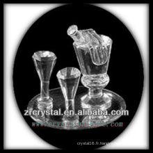 Magnifique récipient en cristal P004