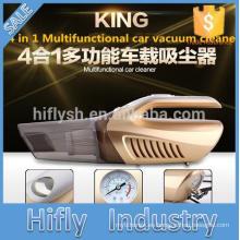 Aspirador de coche portátil HF-6601A 120W 12V 4 EN 1 Bomba de aire aspirador húmedo y seco de alto consumo Bomba inflable de doble uso