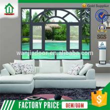 Janela de batente de alumínio com janelas exteriores de decoração