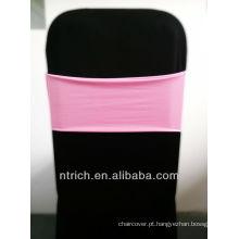 cadeira barata cobre faixas de cadeira, linda banda de elastano, Lycra banda, rosa